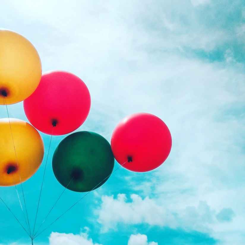Balloons Up In the Sky-Photo