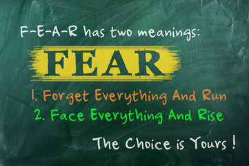 Fear has two meanings-picture