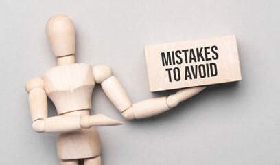 Mistakes to Avoid- Wooden Character