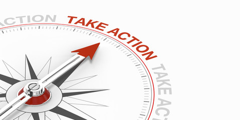 Compass Pointing to Take Action