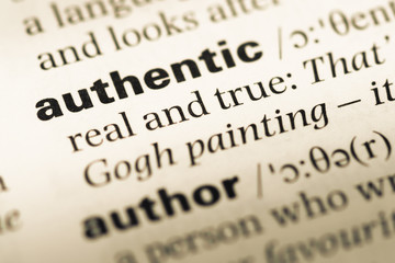 Definition of authentic-Image