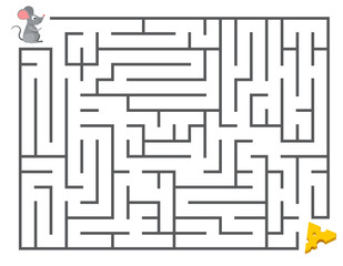 Mouse Entering The Maze to Find Cheese